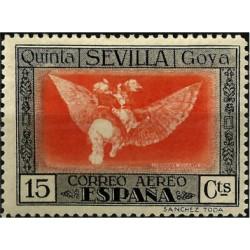 (520) 1930. 15 Céntimos. Quinta de Goya (Nuevo, con marcas de fijasellos)