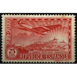 (616) 1931. 25 Céntimos. III Congreso UPU (Nuevo, con señal de fijasellos)