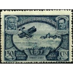 (587) 1930. 50 Céntimos. Pro Unión Iberoamericana (Nuevo)