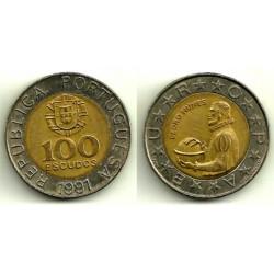 (645.1) Portugal. 1991. 100 Escudos (MBC)