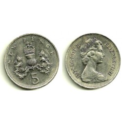 (911) Gran Bretaña. 1979. 5 New Pence (MBC)