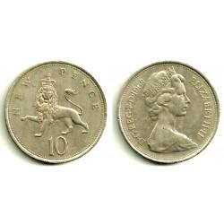(912) Gran Bretaña. 1968. 10 New Pence (BC)