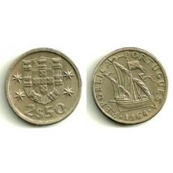 (590) Portugal. 1964. 2½ Escudos (EBC)