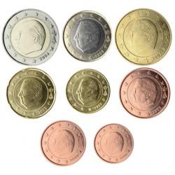 Bélgica 2002 Serie Completa (8 Valores) (SC)