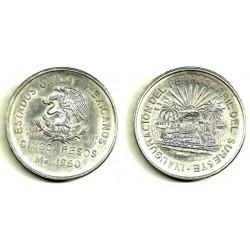 (466) Estados Unidos Mexicanos. 1950. 5 Pesos (SC) (Plata)