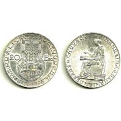 (585) Portugal. 1953. 20 Escudos (SC) (Plata)