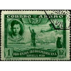 (588) 1930. 1 Peseta. Pro Unión Iberoamericana (Usado)
