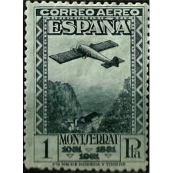 (654) 1931. 1 Peseta. IX Cent. Fund. Montserrat (Nuevo)