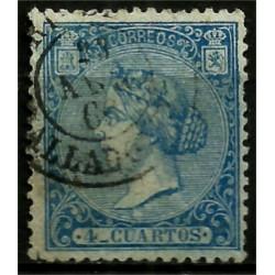 (81) 1866. 4 Cuartos. Isabel II (Usado)