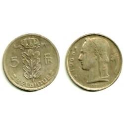 (134.1) Bélgica. 1965. 5 Francs (BC)