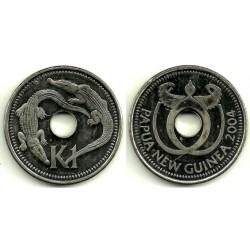 (6a) Papúa Nueva Guinea. 2004. 1 Kina (SC)