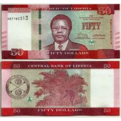 (34) Liberia. 2016. 50 Dollars (SC)