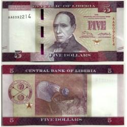 (31) Liberia. 2016. 5 Dollars (SC)