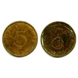 (91) Alemania (III Reich). 1937(A). 5 Pfennig (EBC)