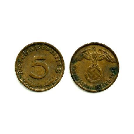 (91) Alemania (III Reich). 1939(D). 5 Pfennig (MBC)