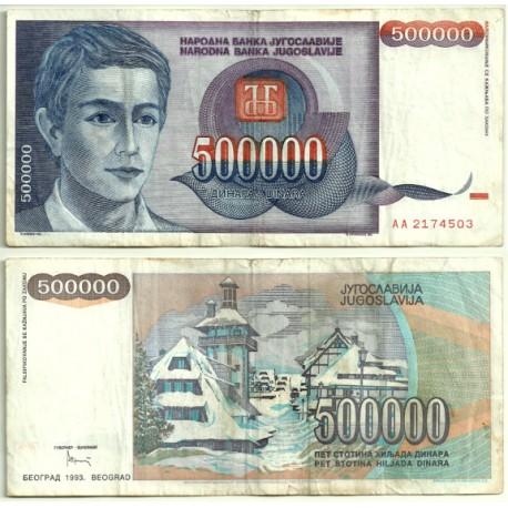 (119) Yugoslavia. 1993. 500000 Dinara (MBC-)
