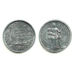 (1) Oceanía Francesa. 1949. 50 Centimes (SC)