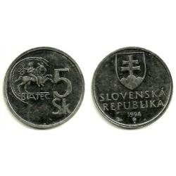 (14) Eslovaquia. 1994. 5 Koruna (EBC)