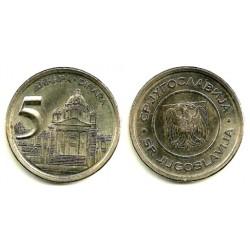 (182) Yugoslavia. 2000. 5 Dinara (EBC+)