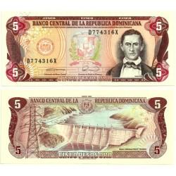 (131) República Dominicana. 1990. 5 Pesos Oro (SC)