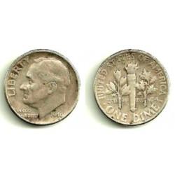 (195) Estados Unidos de América. 1946. 1 Dime (MBC) (Plata)