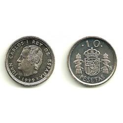 España. 1999. 10 Pesetas (SC) Variante arañazos