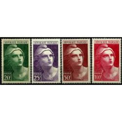 (553 a 556) Francia. 1945. Serie Completa. Marianne (Nuevo)