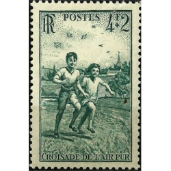(B194) Francia. 1945. 4 + 2 Francs. Aire Puro (Nuevo)