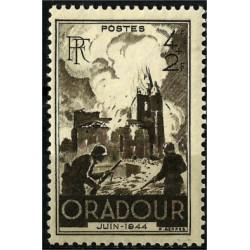 (B195) Francia. 1945. 4 + 2 Francs. Oradour (Nuevo)