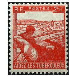 (B193) Francia. 1945. 2 + 1 Francs. Ayuda Tuberculosos (Nuevo)