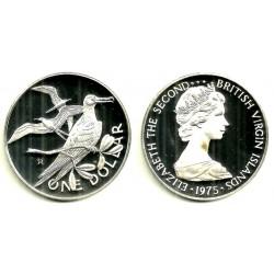 (6a) Islas Vírgenes Británicas. 1975. 1 Dollar (Proof) (Plata)
