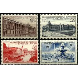 (581 a 584) Francia. 1947. Serie Completa. XIIe Congres UPU (Nuevo)