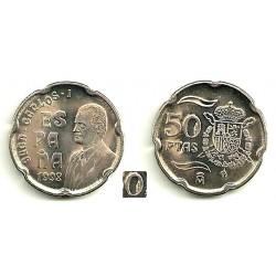 España. 1998. 50 Pesetas (SC) Exceso de metal