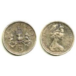 (911) Gran Bretaña. 1975. 5 New Pence (MBC)