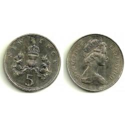(911) Gran Bretaña. 1980. 5 New Pence (EBC)