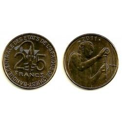 (9) Estados África Oeste. 2011. 25 Francs (SC)