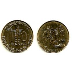 (10) Estados África Oeste. 2012. 10 Francs (SC)