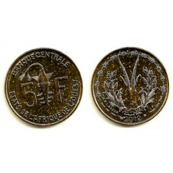 (2a) Estados África Oeste. 2012. 5 Francs (SC)