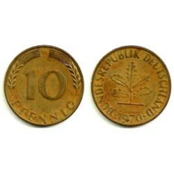 (108) Alemania. 1970(D). 10 Pfennig (MBC)