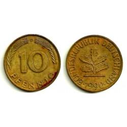 (108) Alemania. 1990(D). 10 Pfennig (MBC+)