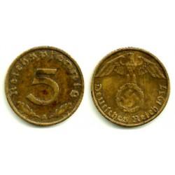 (91) Alemania (III Reich). 1937(A). 5 Pfennig (BC)