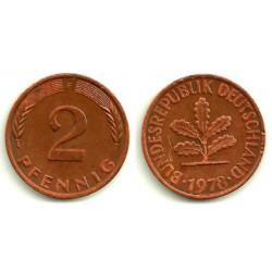(106a) Alemania. 1978(F). 2 Pfennig (MBC+)