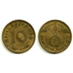 (92) Alemania (III Reich). 1938(A). 10 Pfennig (MBC)