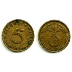 (91) Alemania (III Reich). 1938(D). 5 Pfennig (MBC)