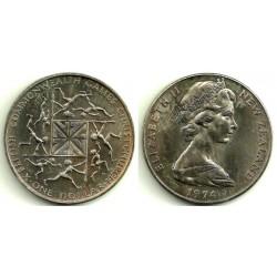 (44) Nueva Zelanda. 1974. 1 Dollar (SC)