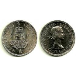 (30) Nueva Zelanda. 1953. 1 Crown (SC)