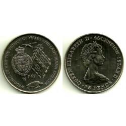 (3) Isla Ascensión. 1981. 25 Pence (SC)