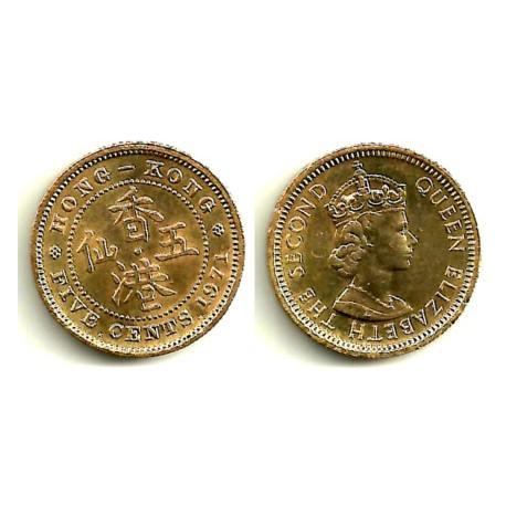 (29.3) Hong Kong. 1971. 5 Cents (EBC)