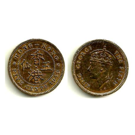 (26) Hong Kong. 1949. 5 Cents (MBC)