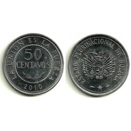 Bolivia. 2010. 50 Centavos (EBC)